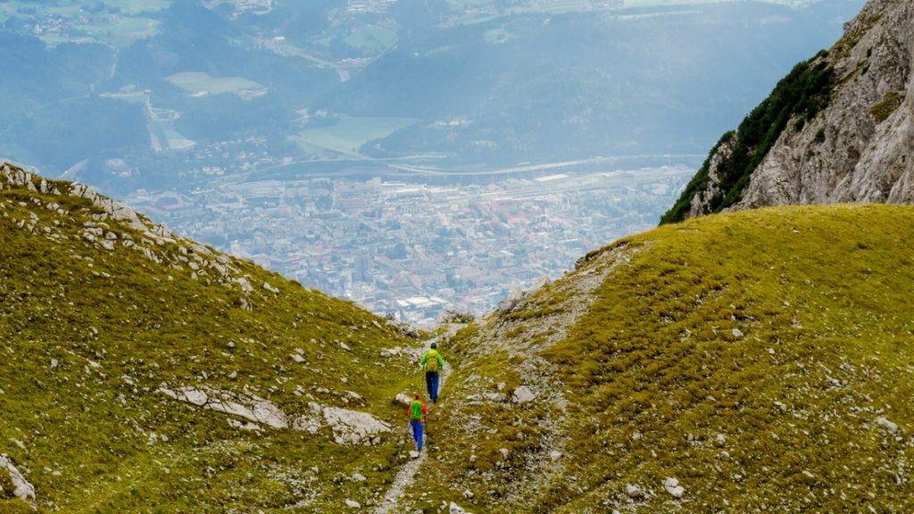 Adlerweg - Goetheweg oberhalb von Innsbruck