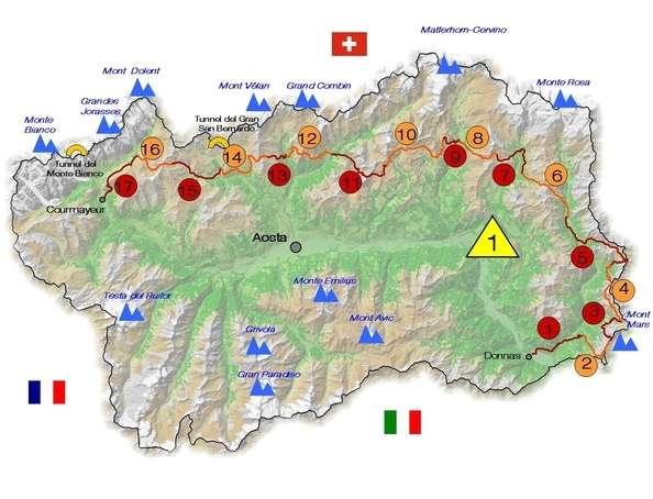 Aosta  Höhenweg Alta Via 1