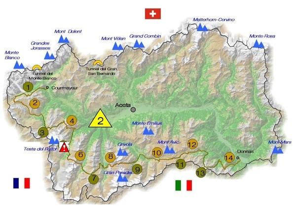 Aosta  Höhenweg Alta Via 2