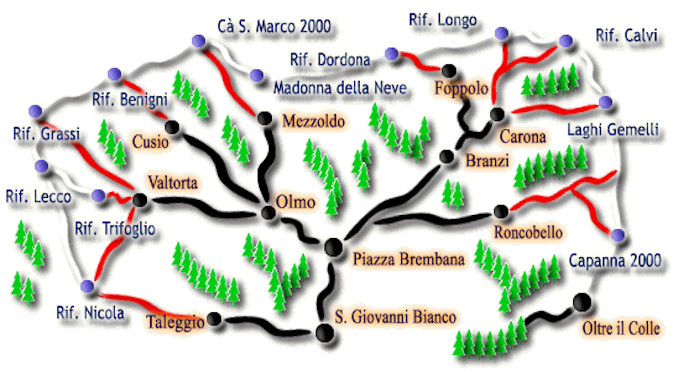 Sentiero Orobi in den Bergamasker Alpen