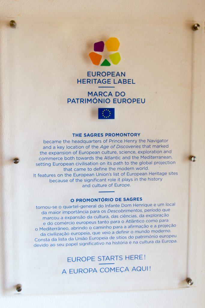 Europäisches Kulturerbe | Hier, an der Ponta de Sagres in Portugal, fängt Europa an! -