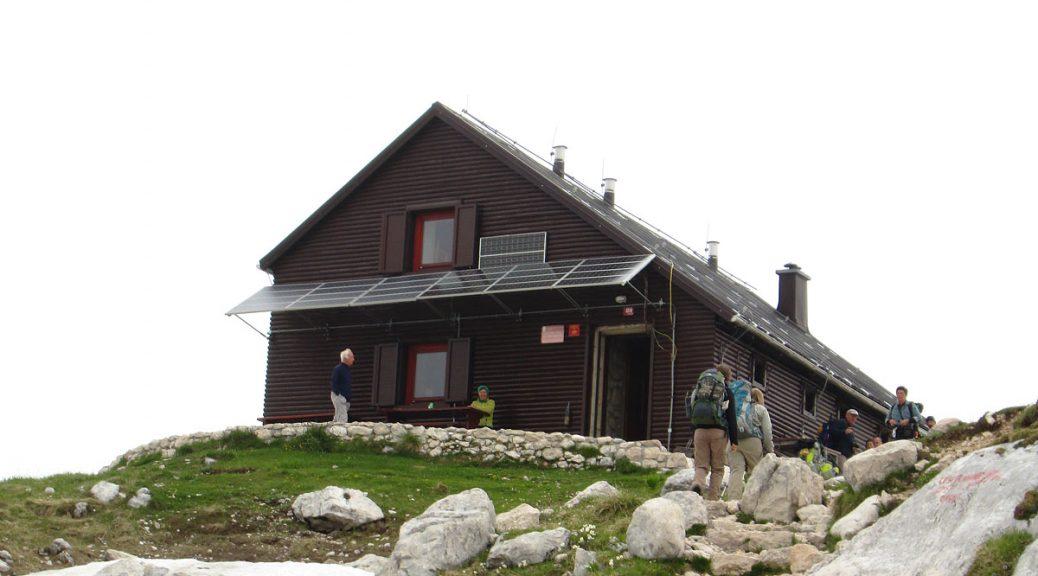 Ankunft an Prehodavcih-Huette - 2071m